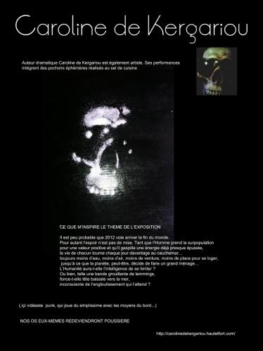 art contemporain, postcontemporain, vidéo, gothique, fin du monde, tête de mort, squelette